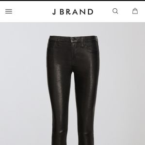 J Brand Leather Jeggings Size 28